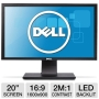 "Dell P2011H Black 20"" 5ms  LED Backlight Widescreen LCD Monitor 250 cd/m2 DC 2000000:1"