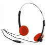 Electrovision Orange Foam Stereo Headphones With 27mm Mylar Transducers.