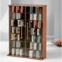 PREMIUM Mezzano Black Wooden Media Storage Tower Shelf Rack Cabinet Unit with Glass Doors for CD & DVD [420 CDs or 160 DVDs] VM