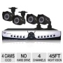 Night Owl 4 Channel LTE Full D1 DVR 500GB Hard Drive 4 x Indoor/Outdoor Cameras & Software