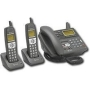 AT&T 1828 5.8GHz Corded/Dual Cordless Answering System with Caller ID (Black)