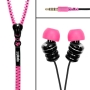 Zipbuds By DGA : Tangle-Resistant Earbuds (Black with Pink)