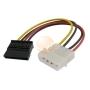 SATA Power Cable 4-pin to 15-pin