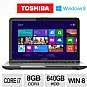 Toshiba L855-S5383 PSKFUU-02X003 Notebook PC - 8GB, Intel Core i7-3630QM 2.4GHz, 8GB DDR3, 640GB HDD, DVDRW, 15.6 Display, Windows 8