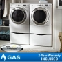 "Whirlpool Duet 9750 Steam  Gas Laundry Suite 3.9 CuFt Washer 7.5 CuFt Dryer 13"" Pedestals"