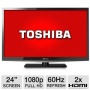 "Toshiba RB-24L4200UX 24"" Class LED HDTV - 1080p, 60Hz, HDMI, USB, PC Input, DynaLight, Energy Star, Refurbished  RB-24L4200UX 