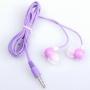 BestDealUSA Purple Cute Rabbit 3.5mm Earphone In-ear Headphone Earbud For iPhone 4 4G MP3 PC