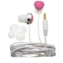 Nemo Digital NF65561-CPK Crystal Pave Heart Earbud (Pink with White Wires)