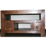 Homescapes - Dakota - TV / DVD Unit 2 Drawer - Dark - 100% Solid Mango Hard Wood - ( No Veneer ) Hand Crafted Furniture