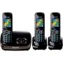 Panasonic KX-TG8523EB DECT Trio Digital Cordless Phone Set with Answer Machine - Black
