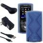 Accessories Bundle Kit for Sony Walkman NWZ-E383 NWZ-E384 NWZ-E385 MP3 Player, Blue