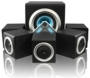 Sumvision Vcube 5.1 Speakers System - 28W RMS