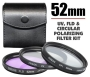 Zeikos 52mm UV, Polarizer & FLD Deluxe Filter kit (set of 3 + carrying case)