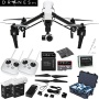 DJI Inspire 1 with Dual Remotes EVERYTHING YOU NEED Kit Includes Go Professional Travel Case + 64GB UHS-I/U3 Micro SDXC Memory Card (SDSDQX-032G-U46A)