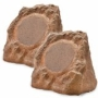 OSD Audio WR800 High Definition Wireless Outdoor 2.4GHz Rock Speaker Pair (Brown)