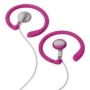 Coosh Headphones - Pink - Works with iPod and other MP3 players - Soft, flexible, silicone earring for extreme comfort and excellent fit.