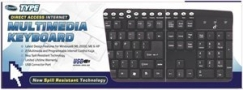 I Concepts 90250N/S Direct Access Multimedia Usb Keyboard
