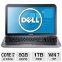 Inspiron 17R Silver 17.3 Notebook (2.1 GHz Intel Core i7-3612QM, 8 GB DDR3, 1 TB HDD, DVDRW, Intel HD Graphics 4000, Windows 7 Home Premium)