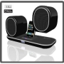 E-Core PartyMate Wireless iPhone & iPod Docking & Charging Speaker With Two Wirelessly Charging Speakers - USB Transmitter To Connect To Any PC - 12W