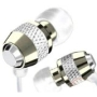 Metal In-ear Earbuds Style Headphones For Kindle, Iphone, Ipad, Mp3, Laptops (Silver)