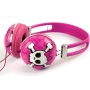 iWorld Pink Rebel Headphones - Compatible with Apple IPod/IPhone and MP3 Player