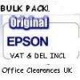 BULK PACKED - Epson T0 807 full set -full set T0 801/2/3/4/5/6 Claria multipa...