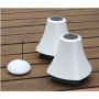AQSOUND WIRELESS WATER-RESISTANT OUTDOOR SPEAKERS (PAIR) White