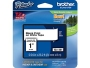 "Brother® TZe-251 P-Touch® Label Tape, 1"" Black on White"