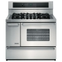 "Kenmore Elite 40"" Dual Fuel Self-Clean Range with Sealed Burners and Elec. Convection Oven 7560"
