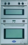 Delonghi: DEBIGE2440 24'' Electric/Gas Double Wall Oven with Upper Electric Convection Oven & Low..