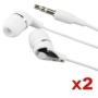 Premium Bundle of 2 Pack Stereo Headphones for Apple iPod NEW 2nd Gen