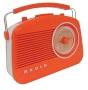 Steepletone Brighton 1950's Portable Retro Style Rotary Radio - Black/Beige