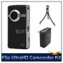 Flip Ultra HDCamcorder Accessory Bundle (Black)