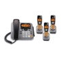 Uniden DECT1588-3T DECT 6.0 Corded/Cordless Digital Answering System with Dual Keypad and Cordless Handset and Chargers