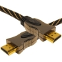 Cable Mountain 3D Ready v1.4 Gold HDMI Cable HD Lead with Ethernet -2 Metre