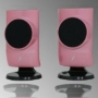 Frisby USB PC Computer Desktop Laptop Notebook Speakers-PINK