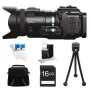 JVC GC-PX100BUS - HD Everio Camcorder (Black) with 16GB Bundle