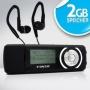 VAOS Clip MP3-Player 2GB 2 GB MP3-VS300 Schwarz inkl. Sportkopfhörer