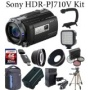 Sony HDR-PJ710V Hd Camcorder / Advanced Kit KlT SAVlNGS