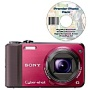 Sony HX7V Cyber-Shot Red 16MP Digital Camera and Premier Photo Pack Software DVD Bundle