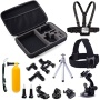 Luxebell 14-in-1 Accessory Kit for Gopro Hero4,hero3+,hero3,hero2 & Hero Camera,package Includes: Head Strap + Chest Strap Mount + Large Size Carry Ca