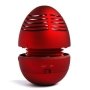 Micropix - Red iPod Mini Egg Tumbling Speaker For iPod's / PC / DVD / VCD / Phone's / MP3 / MP4 Players With Build-In Rechargeable battery