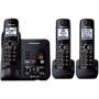 Panasonic KX-TG6633B DECT 6.0 Plus Expandable Set-of-Three Digital Cordless Telephones