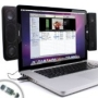 Gogroove SideStream Powerful Clip-On USB Stereo Speakers for Apple Macbook Pro and Air Laptops and More!