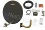 Satgear 80cm Motorised Satellite Dish Kit - Dark Grey Dish