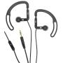 iHip IP-SEP68-BK Sport Earphones with Volume Control (Black)