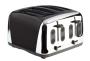 Prestige Deco Toaster, Black, 4 Slice