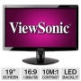 Viewsonic VA1938wa-LED 18.5 Widescreen LED Backlit LCD Monitor - 1000:1, 5ms, 1366x768, VGA