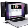 GOgroove SideStream Portable Clip-On Laptop Speakers with Powerful Built-In Digital Amplifier and Subwoofer
