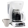 Mr. Coffee Coffee Maker with Clock - White